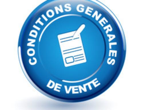 Conditions Générales de Vente entre professionnels
